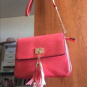 Coral Flamingo Pink Call it Spring Crossbody Bag